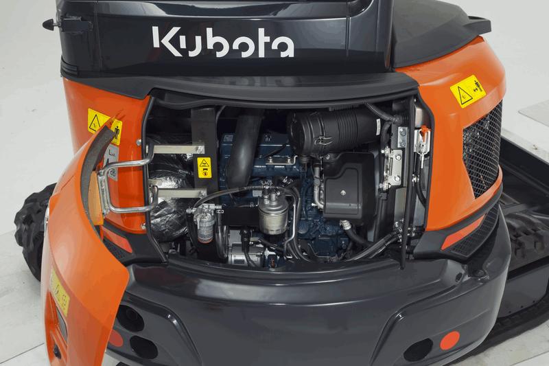 Kubota KX037-4 Motor Motorhaube offen