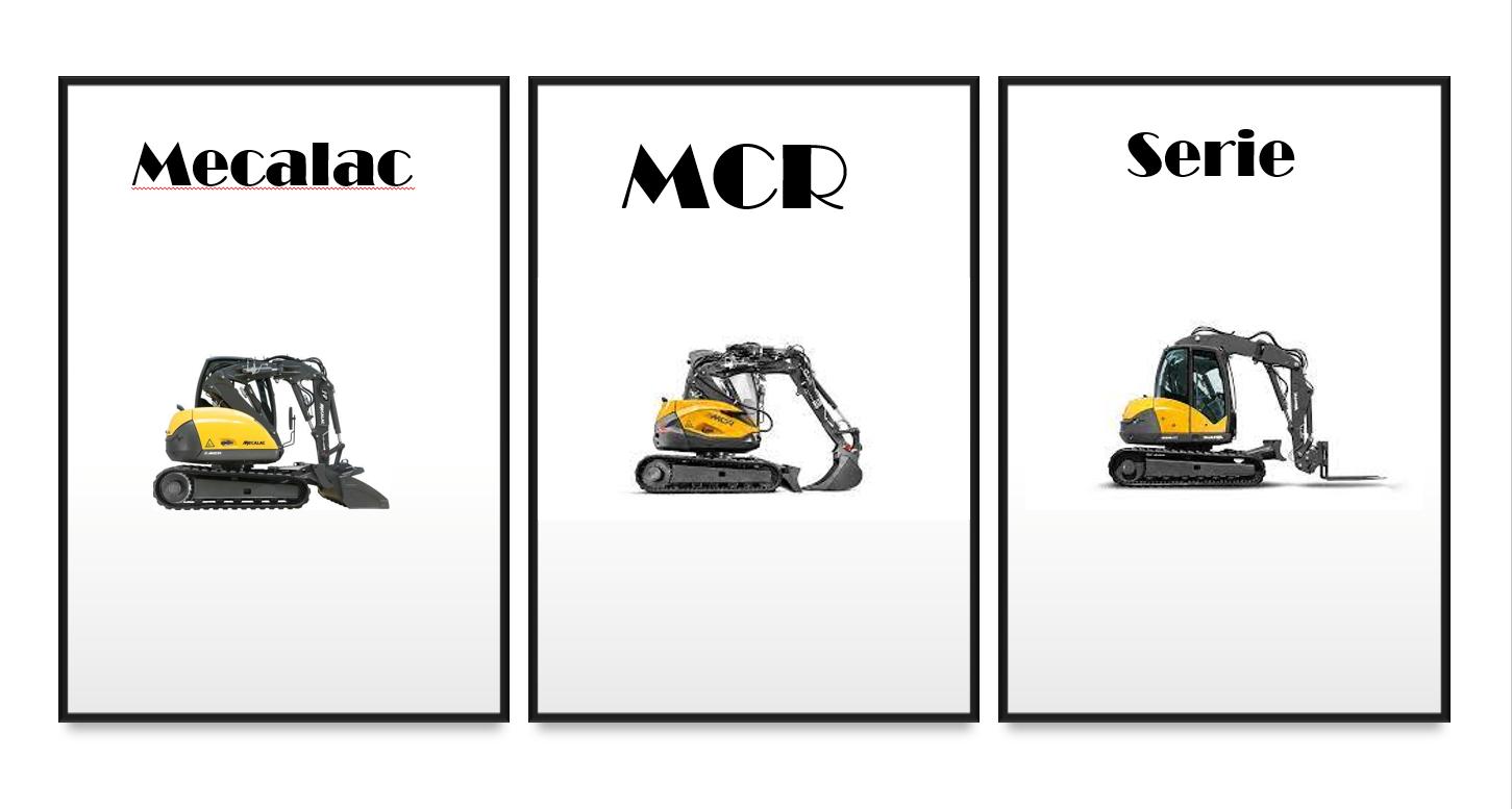 Die MCR Serie von Mecalac, kombiniert die Geschwindigkeit eines Laders mit der Drefunktion eines Baggers!