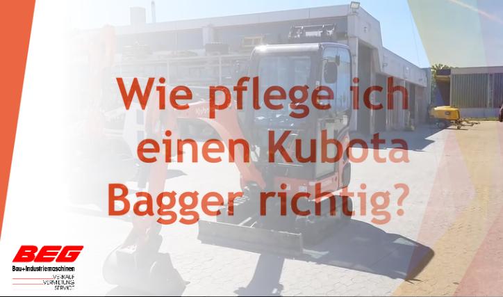 Read more about the article Wie pflege bzw. warte ich einen Kubota Minibagger richtig?
